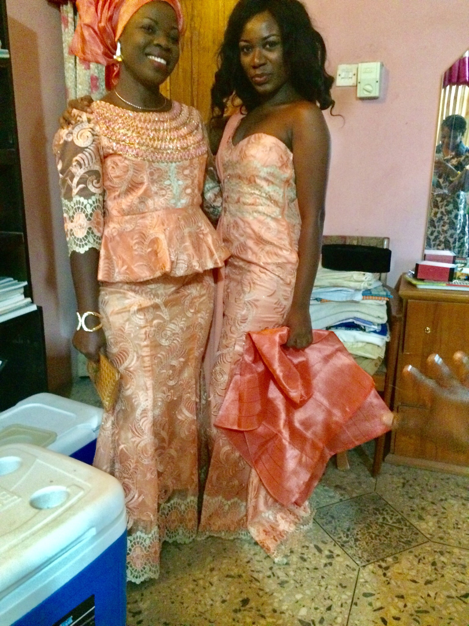 Bride's Aunt and sister
