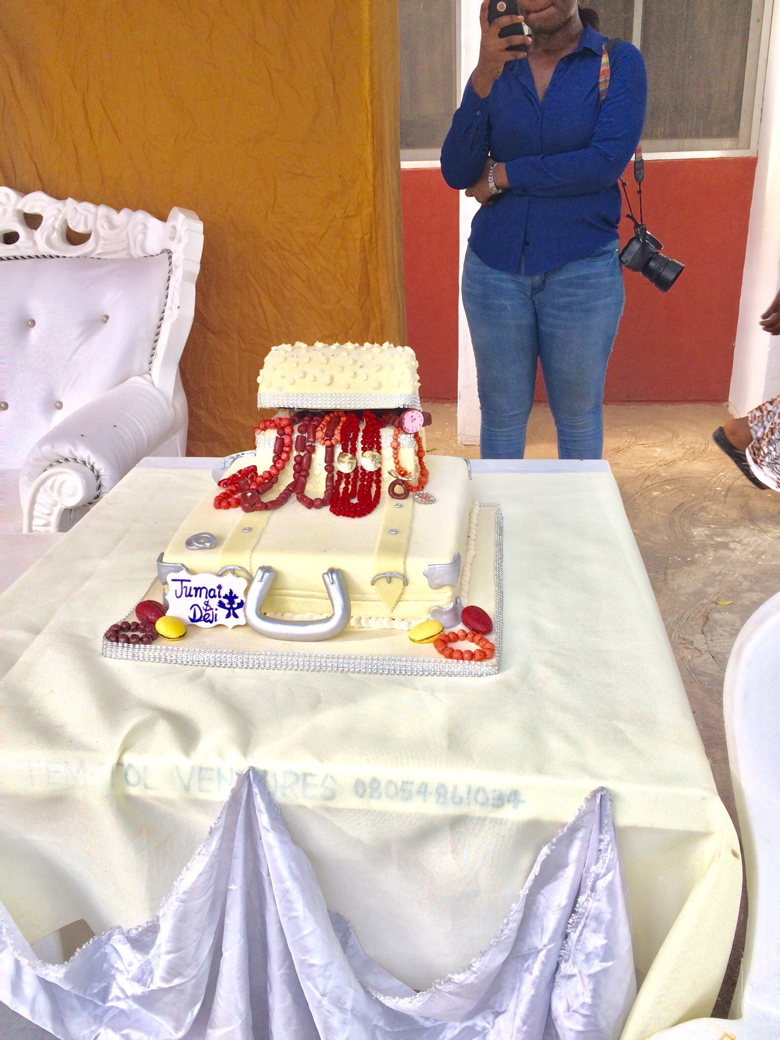 Traditional Nigerian wedding cake by Iye Icheme and Mrs Icheme