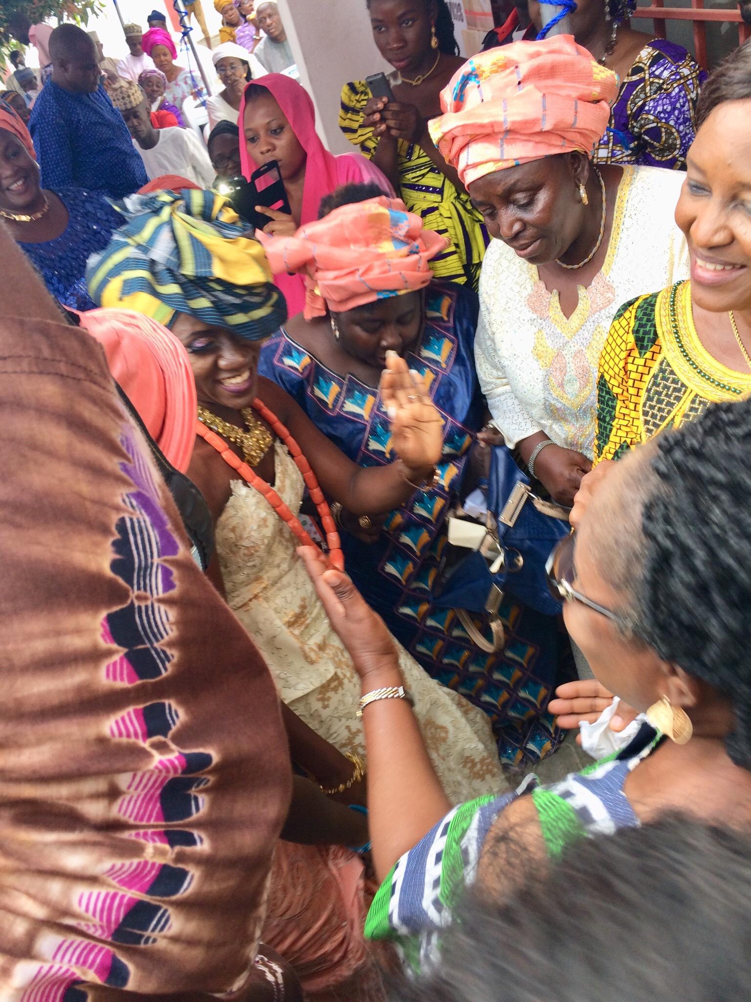 Bride dancing with her mother figures