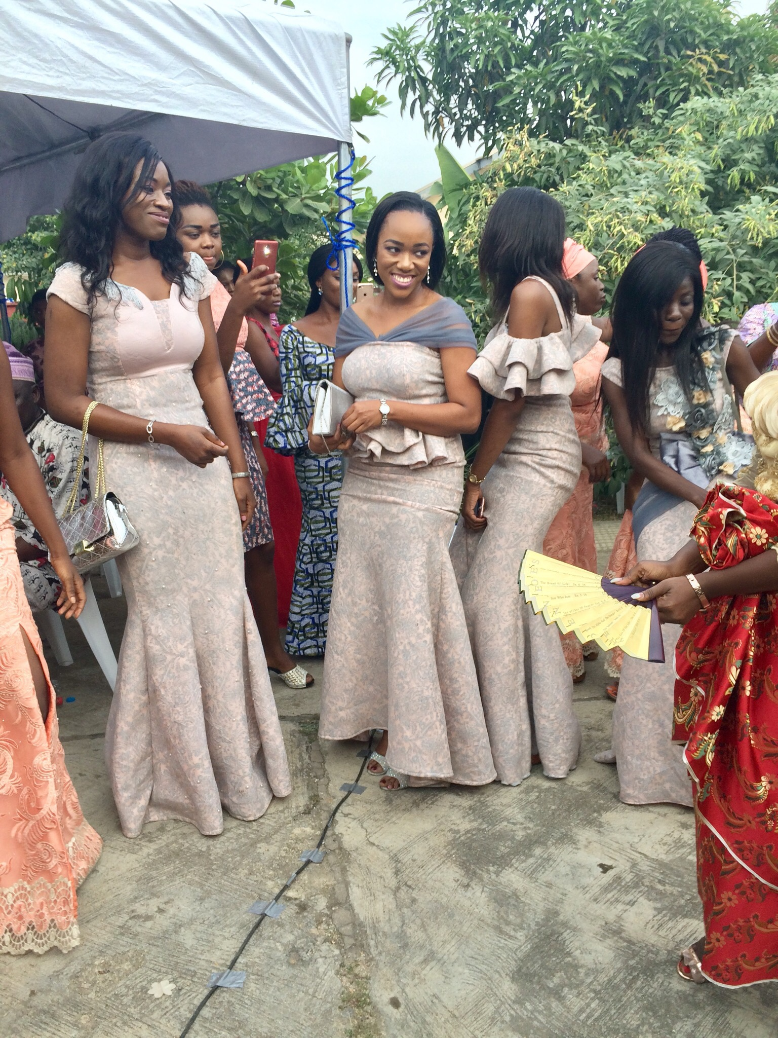 When the bride's friends are happy for her