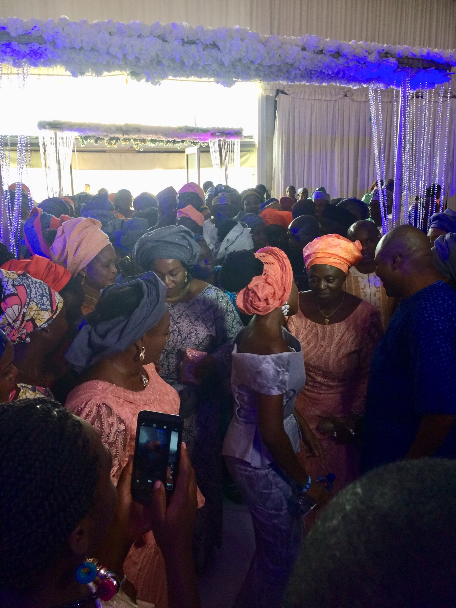 Bride's family dancing in