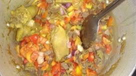Gizzard vegetable sauce