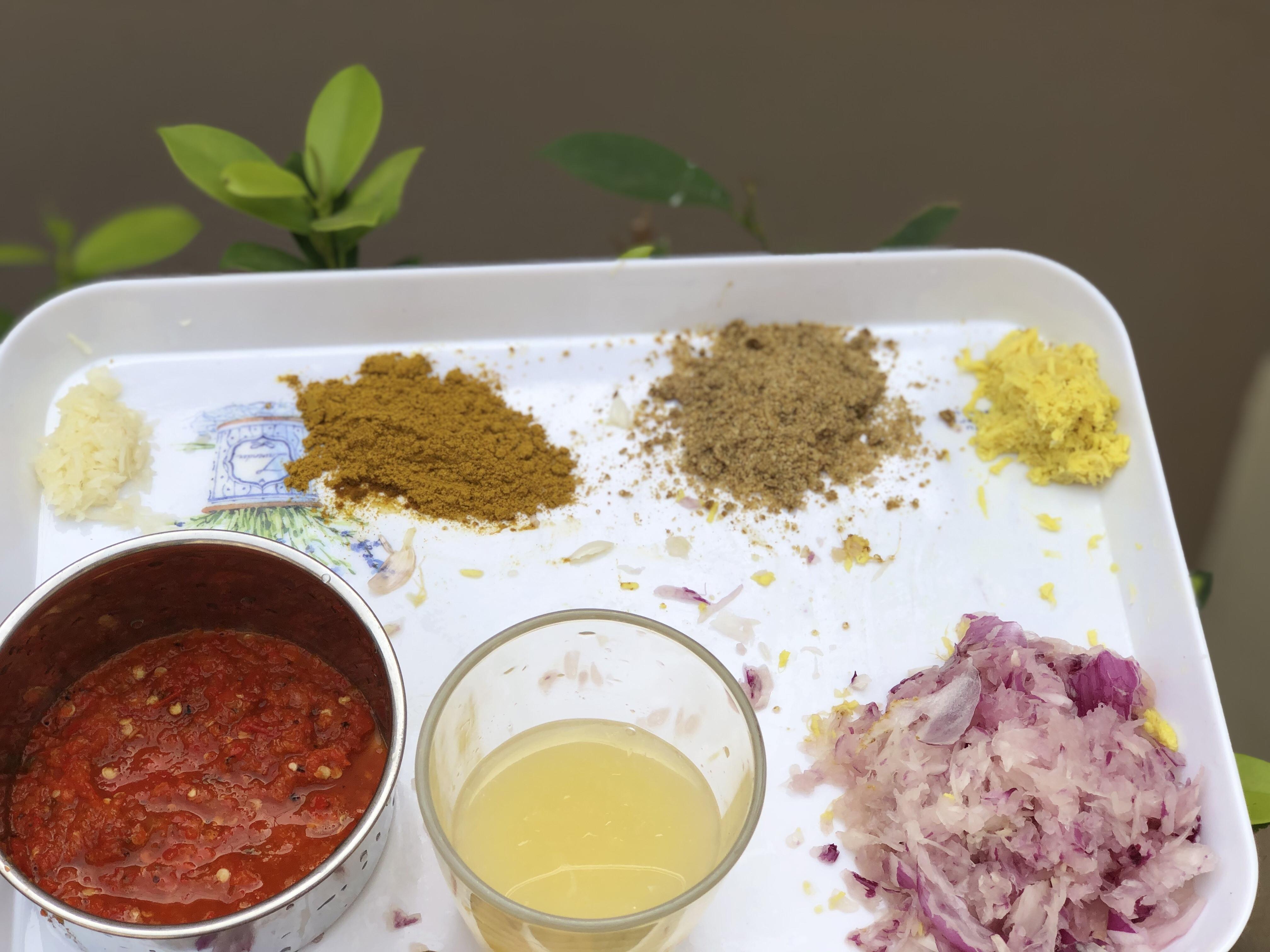 Ingredients for chicken marinate