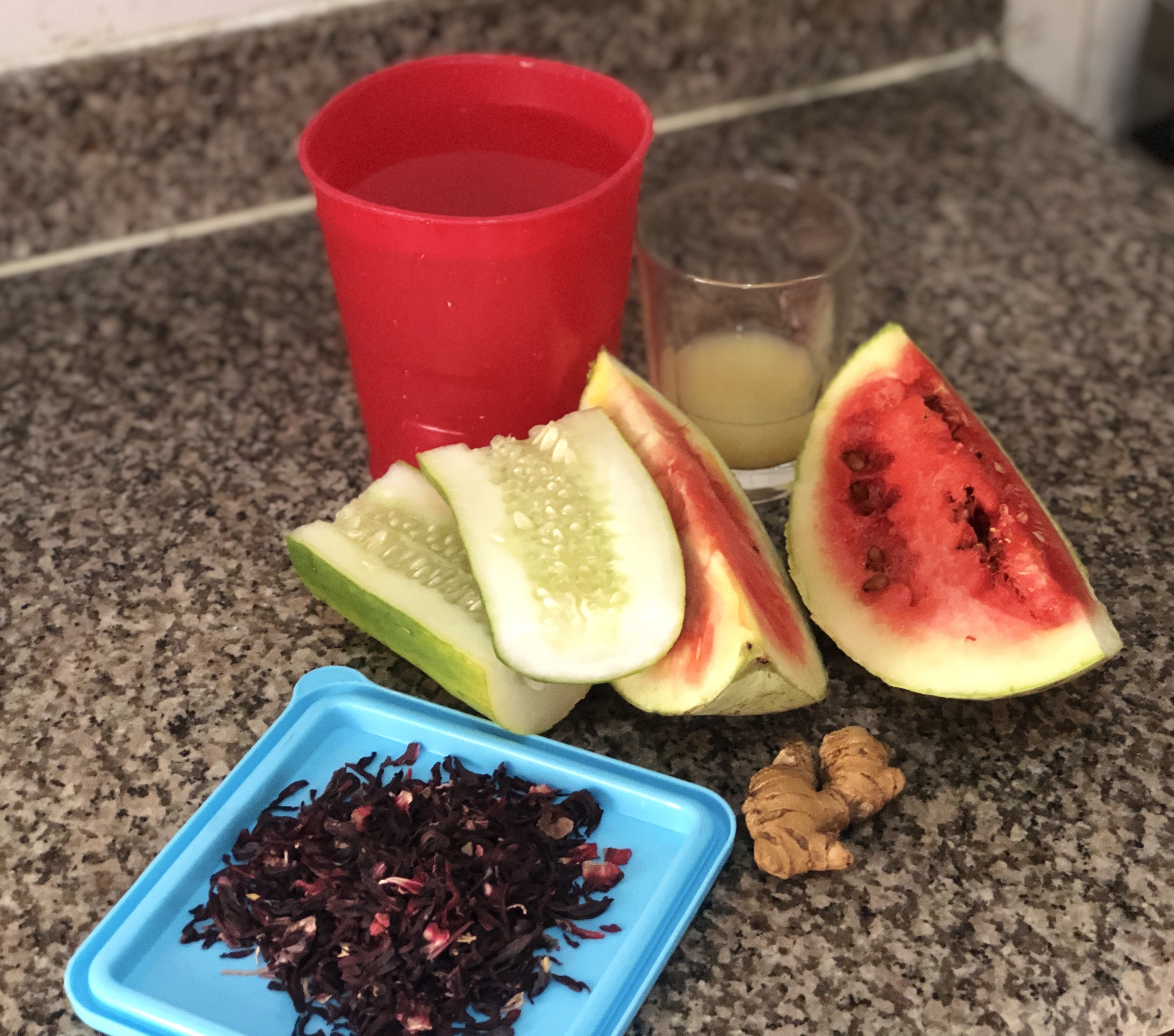 Items for zobo drink