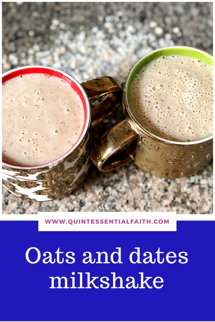 Oats and dates milkshake